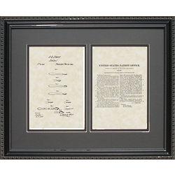 Medical Scalpel 16x20 Framed Patent Art