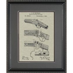 Winchester 1885 Single-Shot Rifle Patent Framed Print