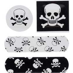 Skulls and Bones Adhesive Bandages