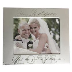 And the Greatest of These is Love Wedding Frame
