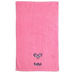 Personalized Abby Caddaby Sesame Street Pink Hand Towel
