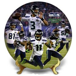 Seattle Seahawks Super Bowl XLVIII Champions Collector's Plate