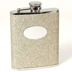 Stainless Steel Gold Glitter Flask
