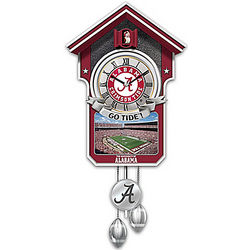 University of Alabama Crimson Tide Cuckoo Clock