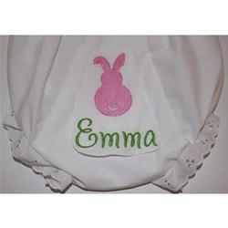 Baby's Embroidered Bunny Bloomer