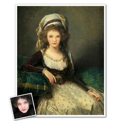 Personalized Portrait of Madame Fresnes from Photo Print
