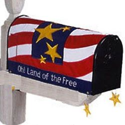 Oh! Land Of The Free Patriotic Mailbox Cover
