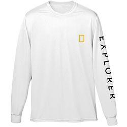 National Geographic Explorer White Long Sleeve Shirt