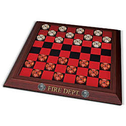 Official Firehouse Checkers Board Game Set