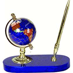 Gemstone Globe World Pen Stand