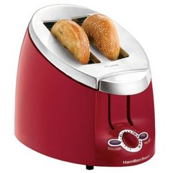 Ensemble 2 Slice Bagel Toaster in Red