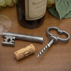 Skeleton Key Bottle Opener with Secret Corkscrew