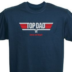 Personalized Top Dad T-Shirt