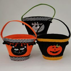 Personalized Heavyweight Felt Halloween Bucket