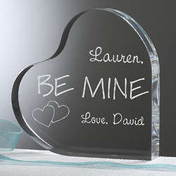 Personalized Be Mine Heart