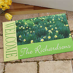 Fields of Flowers Personalized Doormat