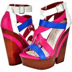 Women's Fuchsia Platform Sandals