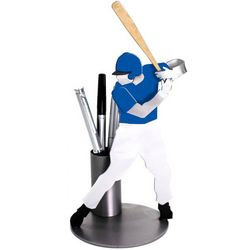 Baseball Player Pen Holder and Desk Sculpture