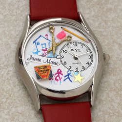 3-D Preschool Teacher Personalized Watch