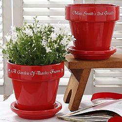 Teacher's Personalized Flower Pot