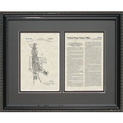 Sturtevant M-16 Rifle Framed Patent Art