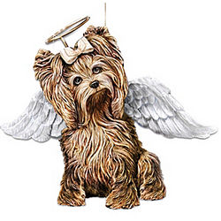 My Little Angel Yorkie Christmas Ornament