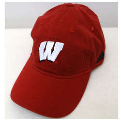 Men's Wisconsin Red Slouch Baseball Cap