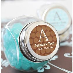 Personalized Wedding Mini Candy Jar Favors