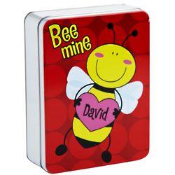 Bee Personalized Valentine Treat Tin