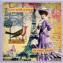 Live with a Song in Your Heart Canvas