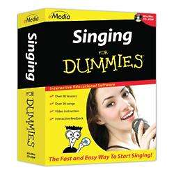 Singing for Dummies Book with CD