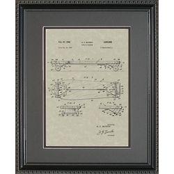 Skateboard Patent Framed Print