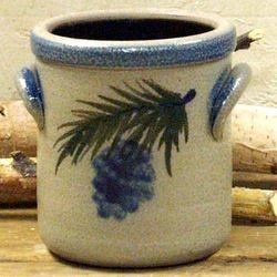 Pinewood Pattern Stoneware Crock