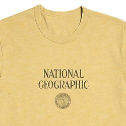 National Geographic Society Vintage Logo Yellow T-Shirt