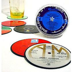 Vinyl Record Coaster Set