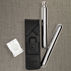 Three Piece Cigar and Flask Kit