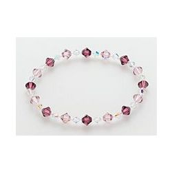 Pink and Clear Crystal Flex Bracelet