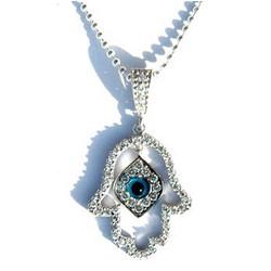Evil Eye Hamsa Hand Necklace