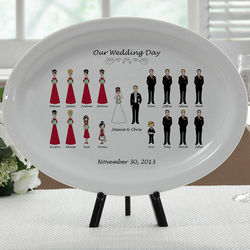 Our Wedding Day Personalized Platter