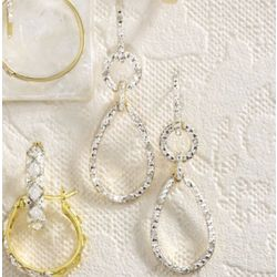 Diamond Pear Drop Post Earrings