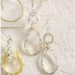 Diamond Pear Drop Post Earrings