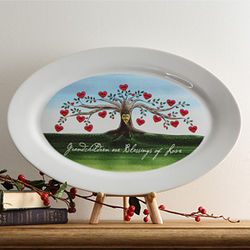Our Family Tree Personalized Platter