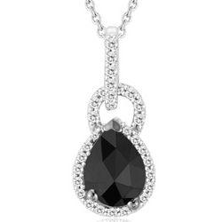 Black & White Diamond Pendant in Silver