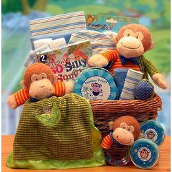 New Little Monkey Baby Gift Basket