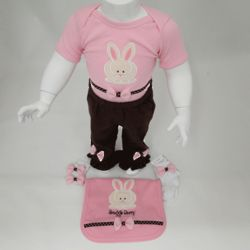 Personalized Bunny Style Baby Outfits