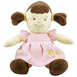 Organic Plush Brunette Dolly