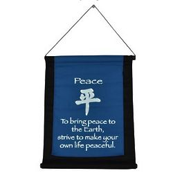 Peace Mini Zen Wall Hanging
