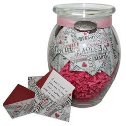 'Daily Sentiments' Jar of Personalized Messages in Mini Envelopes