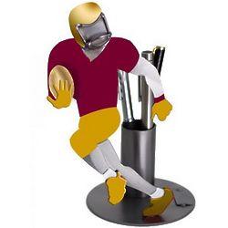 Football Player Pen Holder and Desk Sculpture