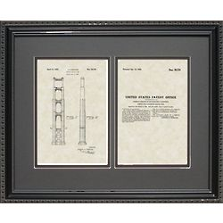Golden Gate Pier 16x20 Framed Patent Art